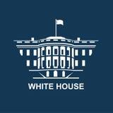 Icono blanco de la casa Imágenes de archivo libres de regalías