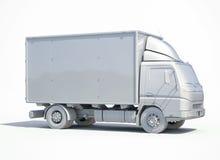 icono blanco del camión de reparto 3d imagen de archivo