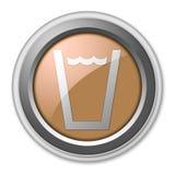 Icono, botón, agua potable del pictograma ilustración del vector