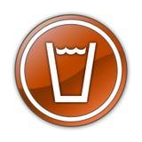 Icono, botón, agua potable del pictograma stock de ilustración