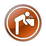 Icono, botón, agua potable del pictograma libre illustration