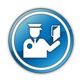 Icono, botón, inmigración del pictograma stock de ilustración