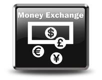 Icono, botón, intercambio de moneda del pictograma stock de ilustración