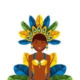 Icono brasileño del bailarín Imagen de archivo