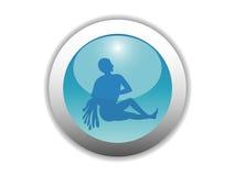Icono brillante del botón del zodiaco Imágenes de archivo libres de regalías