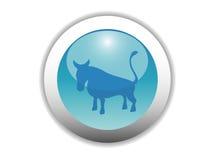 Icono brillante del botón del zodiaco Imagen de archivo