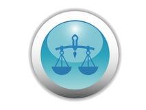 Icono brillante del botón del zodiaco Fotografía de archivo libre de regalías