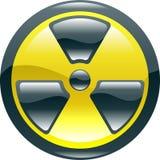 Icono brillante del símbolo de la radiación del shint Imágenes de archivo libres de regalías