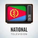 Icono brillante redondo de Eritrea Fotografía de archivo libre de regalías