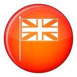 Icono BRITÁNICO de la bandera, estilo plano Fotos de archivo libres de regalías