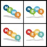 Icono buble de las noticias Imagen de archivo libre de regalías