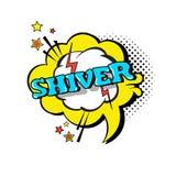 Icono cómico de Art Style Shiver Expression Text del estallido de la burbuja de la charla del discurso Foto de archivo libre de regalías