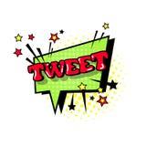 Icono cómico de Art Style Tweet Expression Text del estallido de la burbuja de la charla del discurso Foto de archivo libre de regalías