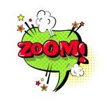 Icono cómico de Art Style Zoom Expression Text del estallido de la burbuja de la charla del discurso Fotografía de archivo libre de regalías