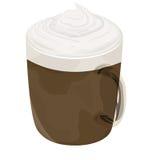 Icono caliente del café de la moca foto de archivo