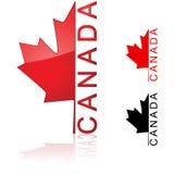 Icono canadiense ilustración del vector