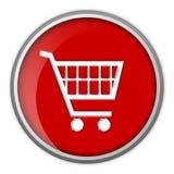 Icono, carro de compras, botón Fotografía de archivo libre de regalías