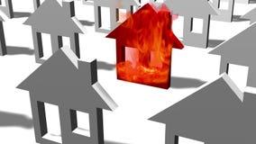 Icono casero ardiente en llamas libre illustration
