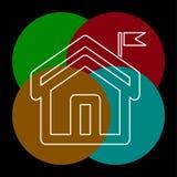 Icono casero, casa de las propiedades inmobiliarias del vector, residencial libre illustration