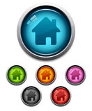 Icono casero del botón Imagenes de archivo