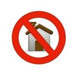 Icono casero del error Imagen de archivo libre de regalías