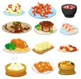 Icono chino del alimento de la historieta Fotos de archivo libres de regalías