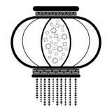 Icono chino del ornamento Imagenes de archivo