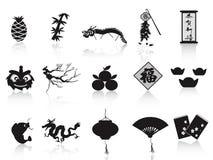 Icono chino negro del Año Nuevo