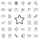 icono Cinco-acentuado de la estrella Sistema detallado de iconos minimalistic Diseño gráfico superior Uno de los iconos de la col ilustración del vector