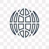 Icono circular del vector de la rejilla del planeta aislado en backgro transparente ilustración del vector