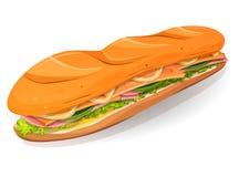 Icono clásico de Ham And Butter French Sandwich Imagen de archivo libre de regalías