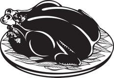 Icono cocinado de la cena de Turquía libre illustration