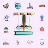 icono coloreado carrusel sistema universal de los iconos del circo para la web y el móvil stock de ilustración