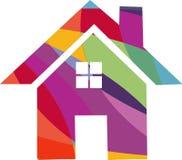 Icono coloreado de la casa Fotografía de archivo libre de regalías