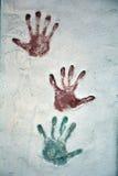 Icono coloreado de la impresión de la mano, ejemplo ilustración del vector