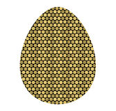 Icono coloreado de las células de huevo de oro la plantilla para el Easte stock de ilustración