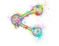Icono colorido creativo de la parte en el fondo blanco libre illustration
