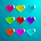 Icono colorido de la caja del corazón Valentine Heart Symbol Fotos de archivo libres de regalías