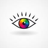 Icono colorido del ojo del vector Fotografía de archivo