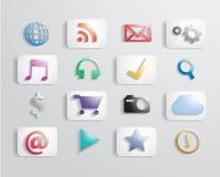 Icono colorido del uso del vector Imagenes de archivo