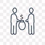 Icono comercial del vector de la gente aislado en el fondo transparente, l ilustración del vector