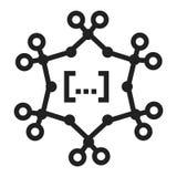 Icono complejo de la fórmula química, estilo simple ilustración del vector