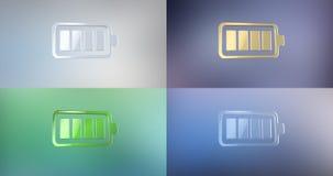 Icono completo 3d de la batería stock de ilustración