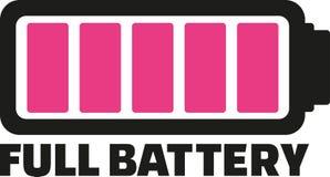 Icono completo de la batería ilustración del vector