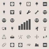 icono completo de la señal Sistema detallado de iconos minimalistic Muestra superior del diseño gráfico de la calidad Uno de los  stock de ilustración