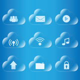 Icono computacional de la nube Imágenes de archivo libres de regalías