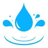 Icono con descenso del agua azul