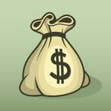 Icono con el bolso, vector del dinero del color. stock de ilustración