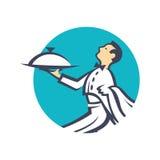 Icono con el camarero Imagen de archivo libre de regalías