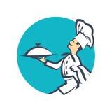 Icono con el cocinero Fotos de archivo